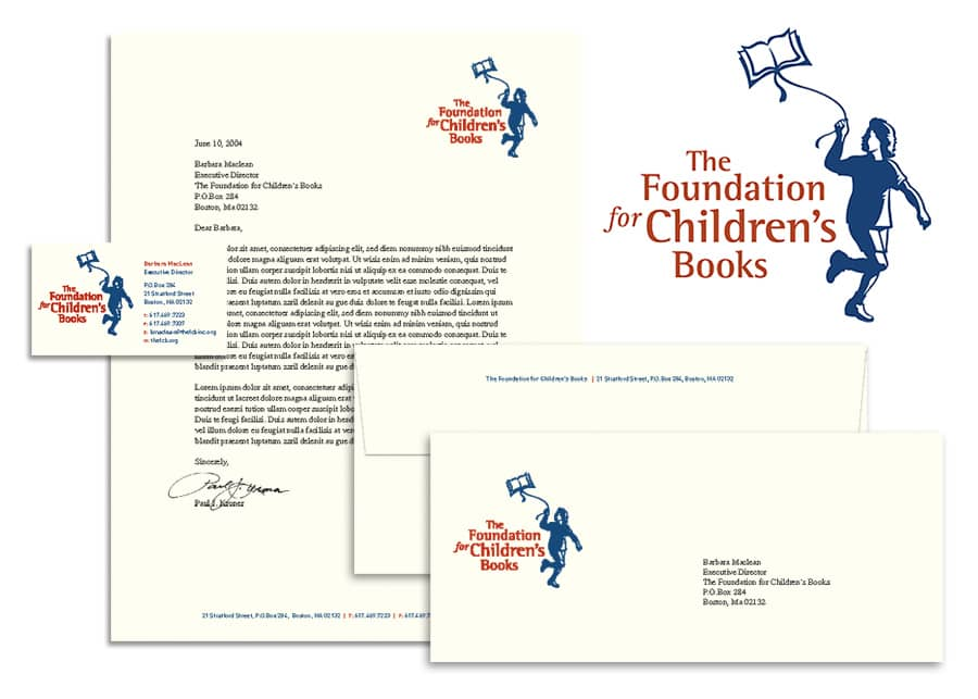 Foundation for Children's Books Identity System