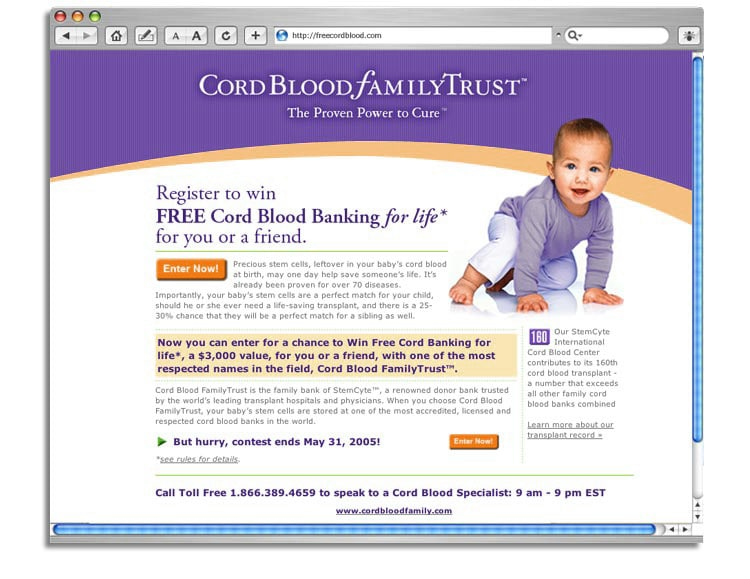 Free Cord Blood web site