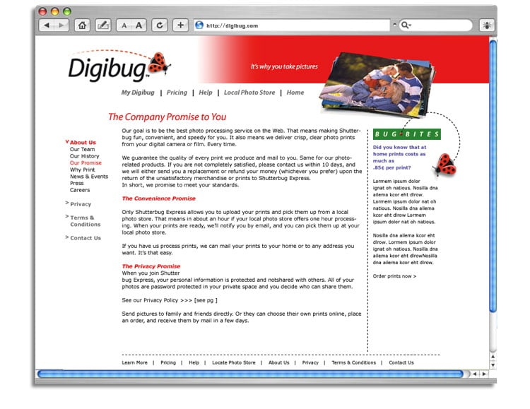 Digibug web site